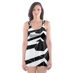 Polynoise Origami Skater Dress Swimsuit by jumpercat