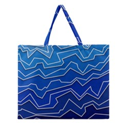 Polynoise Deep Layer Zipper Large Tote Bag by jumpercat