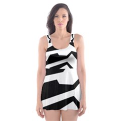 Polynoise Bw Skater Dress Swimsuit by jumpercat