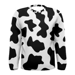 Animal Print Black And White Black Men s Long Sleeve Tee