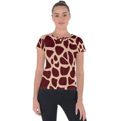Animal Print Girraf Patterns Short Sleeve Sports Top