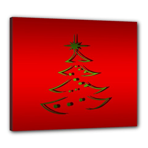 Christmas Canvas 24  X 20  by BangZart