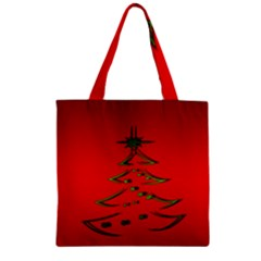 Christmas Zipper Grocery Tote Bag by BangZart