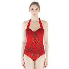 Christmas Halter Swimsuit