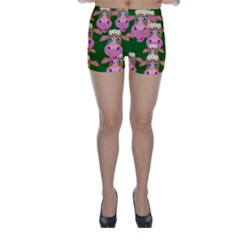 Seamless Tile Repeat Pattern Skinny Shorts