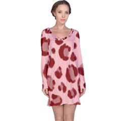 Seamless Tile Background Abstract Long Sleeve Nightdress
