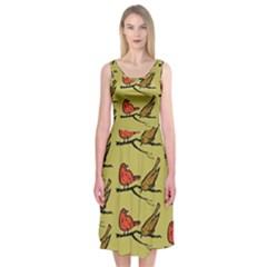 Animal Nature Wild Wildlife Midi Sleeveless Dress