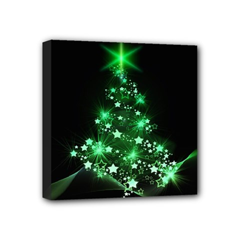 Christmas Tree Background Mini Canvas 4  X 4  by BangZart