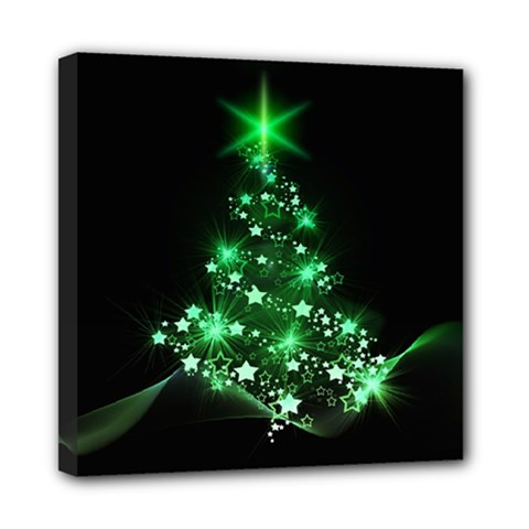 Christmas Tree Background Mini Canvas 8  X 8  by BangZart