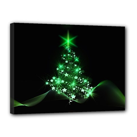 Christmas Tree Background Canvas 16  X 12  by BangZart