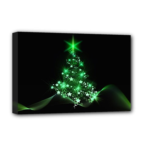 Christmas Tree Background Deluxe Canvas 18  X 12