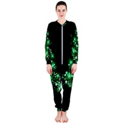 Christmas Tree Background Onepiece Jumpsuit (ladies)