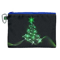 Christmas Tree Background Canvas Cosmetic Bag (xl) by BangZart