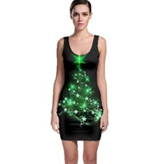 Christmas Tree Background Bodycon Dress