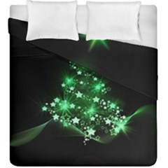 Christmas Tree Background Duvet Cover Double Side (king Size) by BangZart