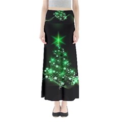 Christmas Tree Background Full Length Maxi Skirt