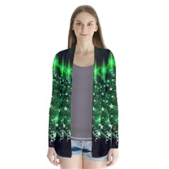 Christmas Tree Background Drape Collar Cardigan by BangZart
