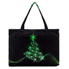 Christmas Tree Background Zipper Medium Tote Bag