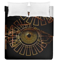 Eye Technology Duvet Cover Double Side (queen Size)