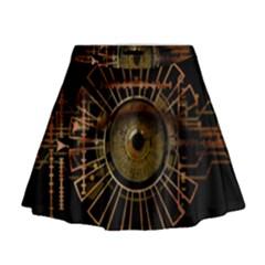 Eye Technology Mini Flare Skirt