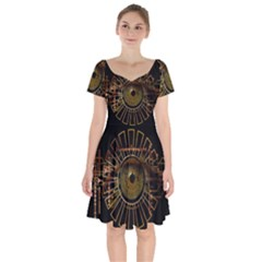Eye Technology Short Sleeve Bardot Dress