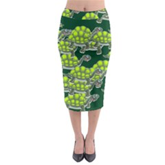 Seamless Tile Background Abstract Midi Pencil Skirt