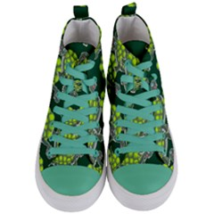 Seamless Tile Background Abstract Women s Mid Top Canvas Sneakers
