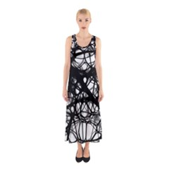 Neurons Brain Cells Brain Structure Sleeveless Maxi Dress