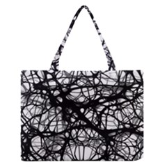 Neurons Brain Cells Brain Structure Zipper Medium Tote Bag