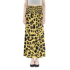 Animal Fur Skin Pattern Form Full Length Maxi Skirt