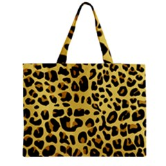 Animal Fur Skin Pattern Form Zipper Medium Tote Bag
