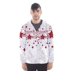Christmas Star Snowflake Hooded Wind Breaker (men)