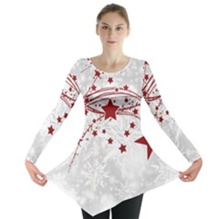 Christmas Star Snowflake Long Sleeve Tunic