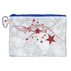 Christmas Star Snowflake Canvas Cosmetic Bag (xl) by BangZart