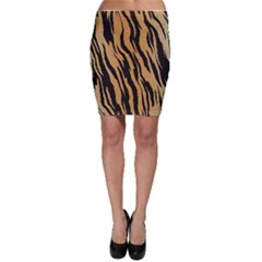 Animal Tiger Seamless Pattern Texture Background Bodycon Skirt