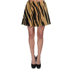 Animal Tiger Seamless Pattern Texture Background Skater Skirt