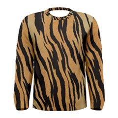 Animal Tiger Seamless Pattern Texture Background Men s Long Sleeve Tee