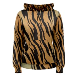Animal Tiger Seamless Pattern Texture Background Women s Pullover Hoodie