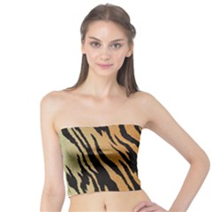 Animal Tiger Seamless Pattern Texture Background Tube Top