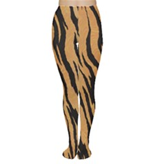 Animal Tiger Seamless Pattern Texture Background Women s Tights