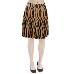 Animal Tiger Seamless Pattern Texture Background Pleated Skirt