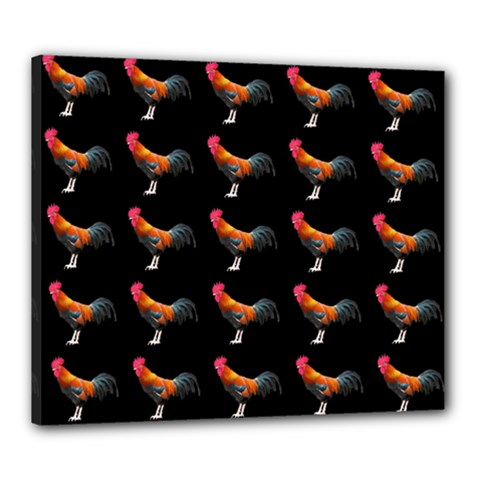 Background Pattern Chicken Fowl Canvas 24  X 20  by BangZart