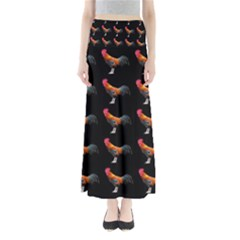 Background Pattern Chicken Fowl Full Length Maxi Skirt