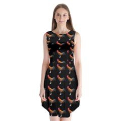 Background Pattern Chicken Fowl Sleeveless Chiffon Dress