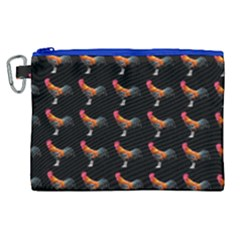 Background Pattern Chicken Fowl Canvas Cosmetic Bag (xl) by BangZart