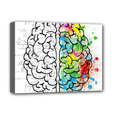 Brain Mind Psychology Idea Hearts Deluxe Canvas 16  X 12