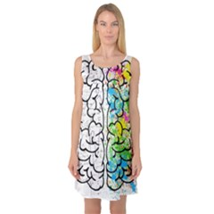 Brain Mind Psychology Idea Hearts Sleeveless Satin Nightdress