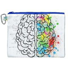 Brain Mind Psychology Idea Hearts Canvas Cosmetic Bag (xxl)