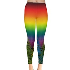 Christmas Colorful Rainbow Colors Leggings