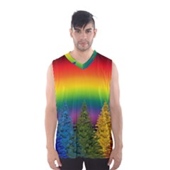 Christmas Colorful Rainbow Colors Men s Basketball Tank Top